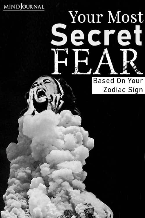 Secret Fear Zodiac Sign pin