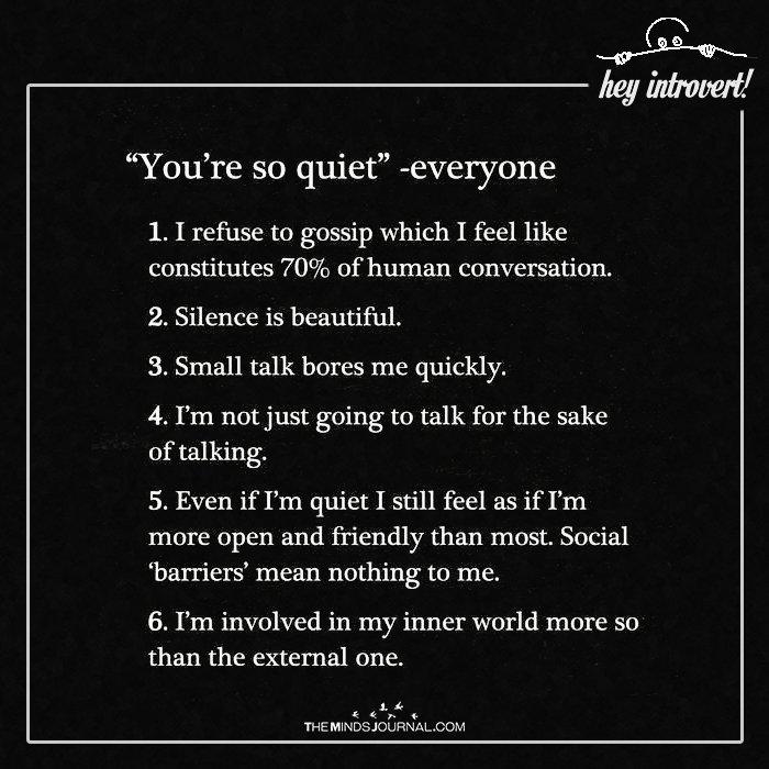 """You're So Quite"" - Everyone"