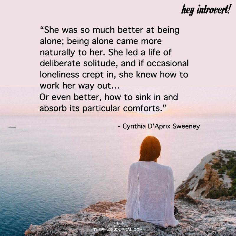 She Was So Much Better A Being Alone