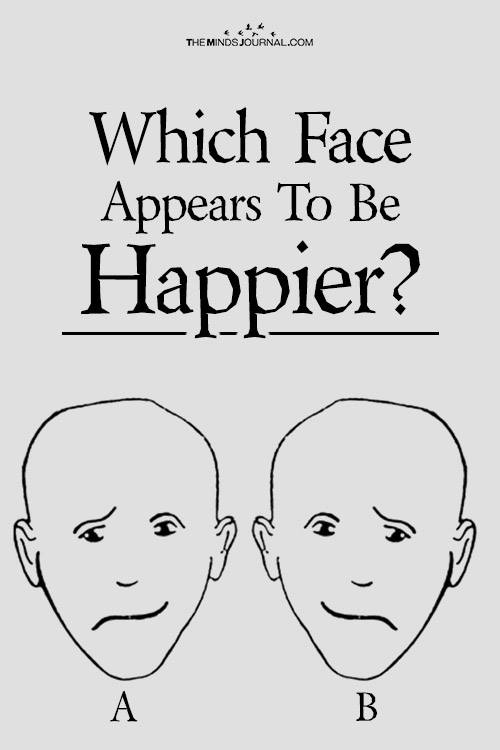 Which Face Appears To Be Happier? - Personality Test