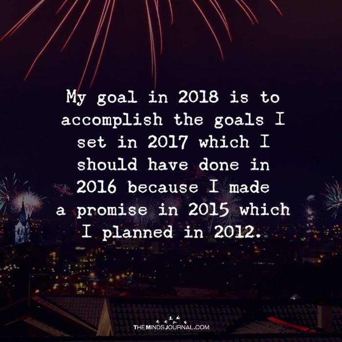 My Goal In 2018