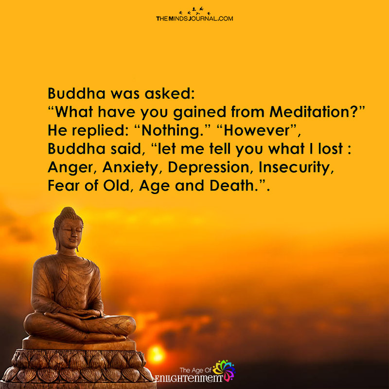 buddha was asked what you gained from meditation the minds journal
