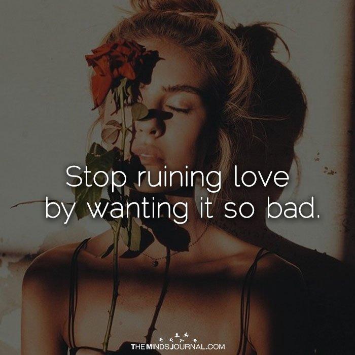 Stop Ruining Love