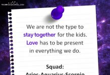 We Are Not The Type To Stay Together For The Kids