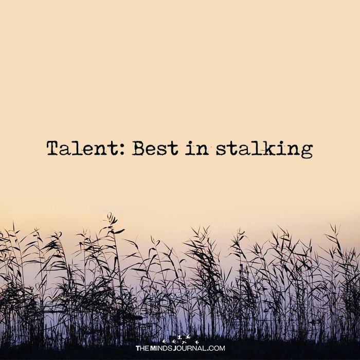 Talent: Best In Stalking