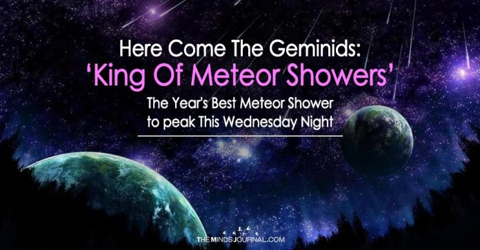 Here Come The Geminids: 'King Of Meteor Showers' The Year's Best Meteor Shower to peak This Wednesday Night