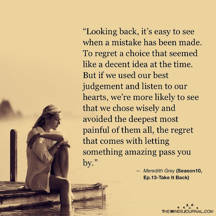 Looking Back, It's Easy to See When A Mistake Has Been Made