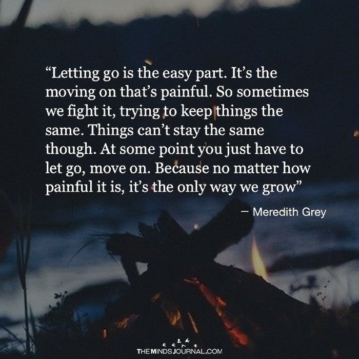 Letting Go Is The Easy Part The Minds Journal
