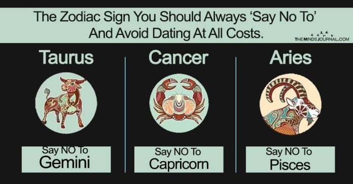 The Zodiac Sign You Should Always 'Say No To' And Avoid Dating At All Costs.