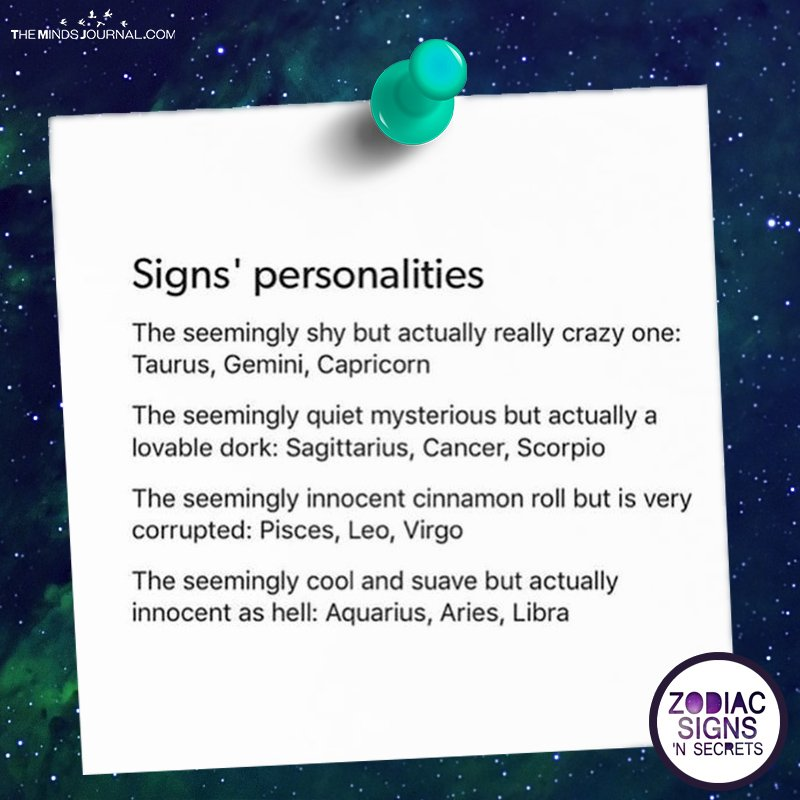 Signs' Personalities