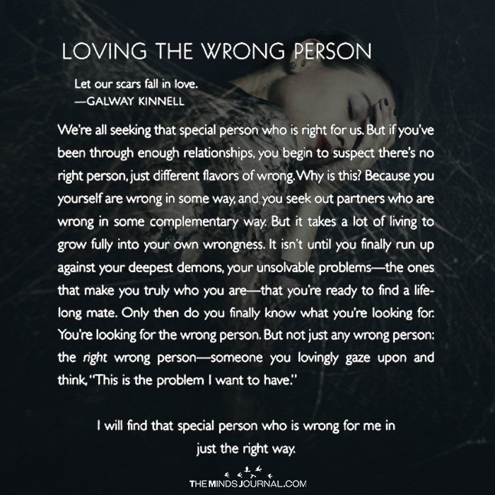 Loving The Wrong Person The Minds Journal