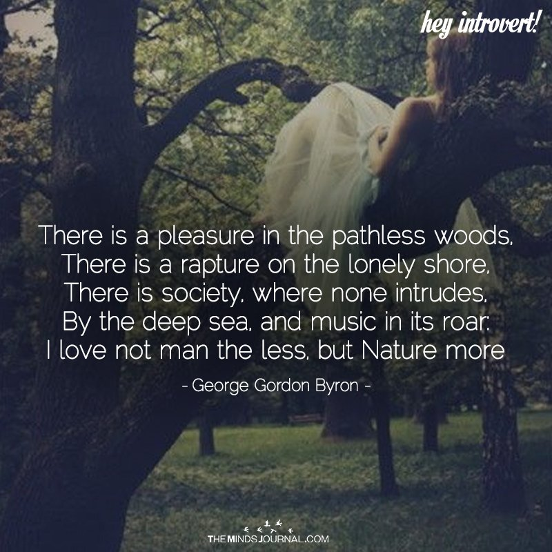 There Is A Pleasure In The Pathless Woods