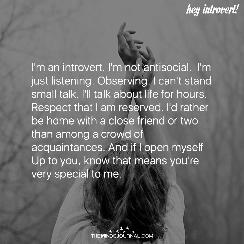 I'm An Introvert. I'm Not Antisocial