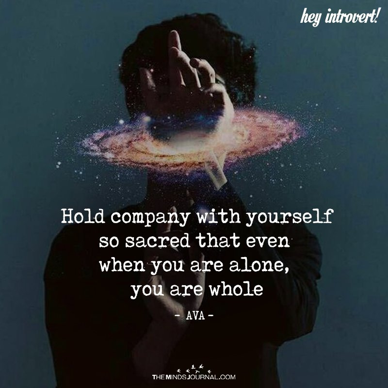 Hold Company With Yourself