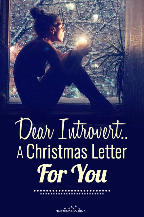 Christmas Letter For Introvert pin