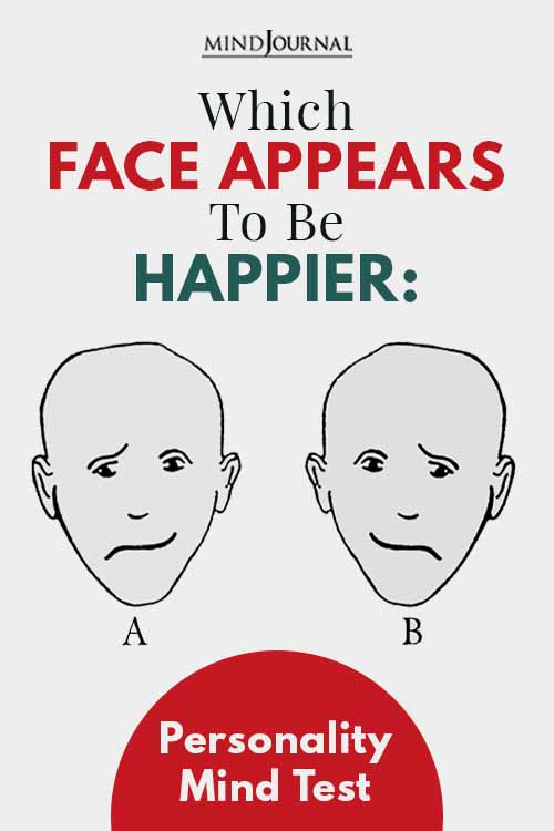 Face Appears To Be Happier Mind Test Pin