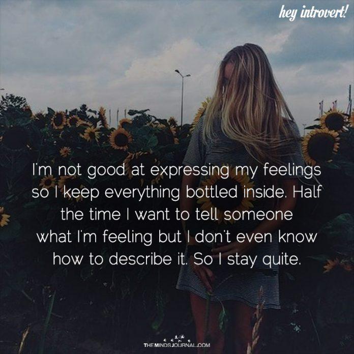 I'm Not Good At Expressing My Feelings