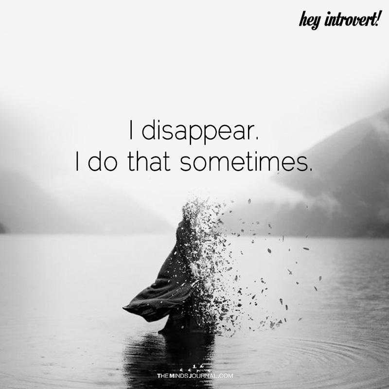 I Disappear