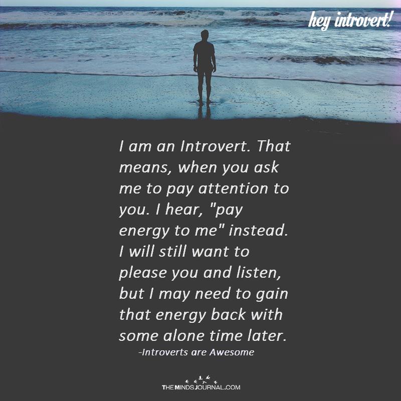 I Am An Introvert