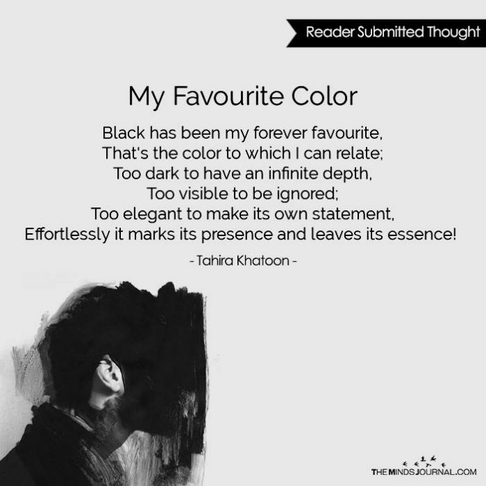 MY FAVOURITE COLOR