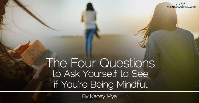 The Four Questions to Ask Yourself to see if You're Being Mindful