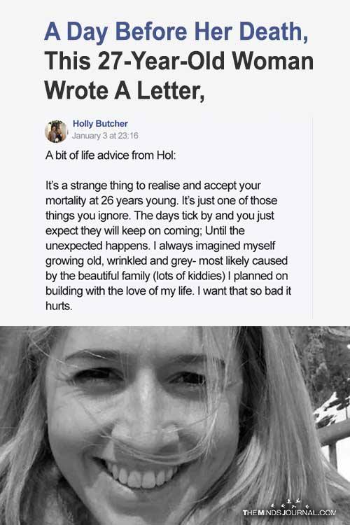 A Day Before Her Death, This 27-Year-Old Woman Wrote A Letter, Which Will Change Your Life Forever