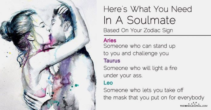 Here's What You Need In A Soulmate, Based On Your Zodiac Sign