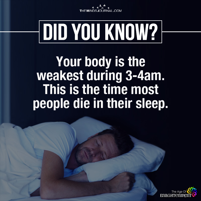 Your Body Is The Weakest During 3-4 Am