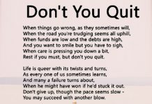 Don't You Quit