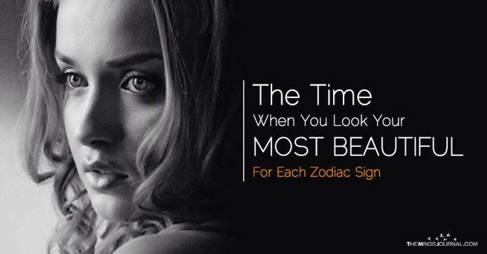 The Time When You Look Your Most Beautiful, Based On Your