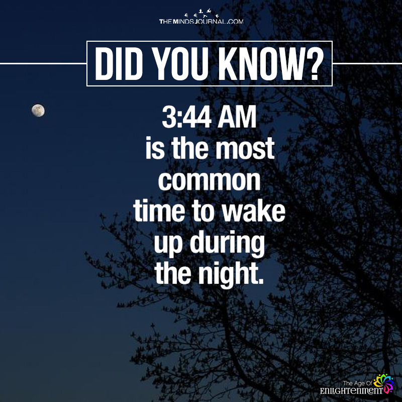 3.44 Am Is The Most Common Time