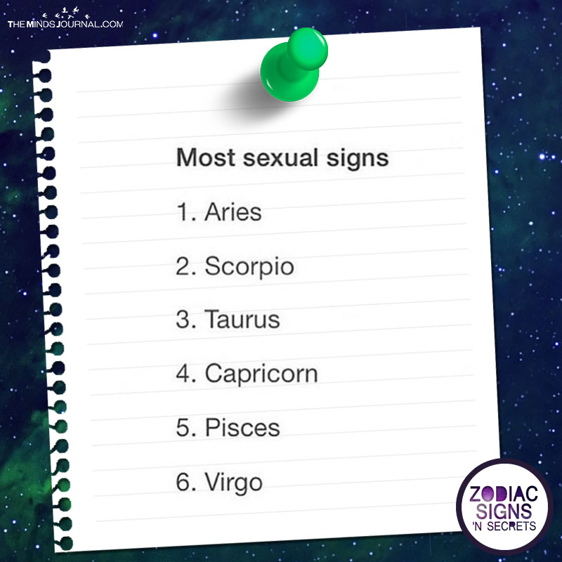 Most Sexual Signs The Minds Journal