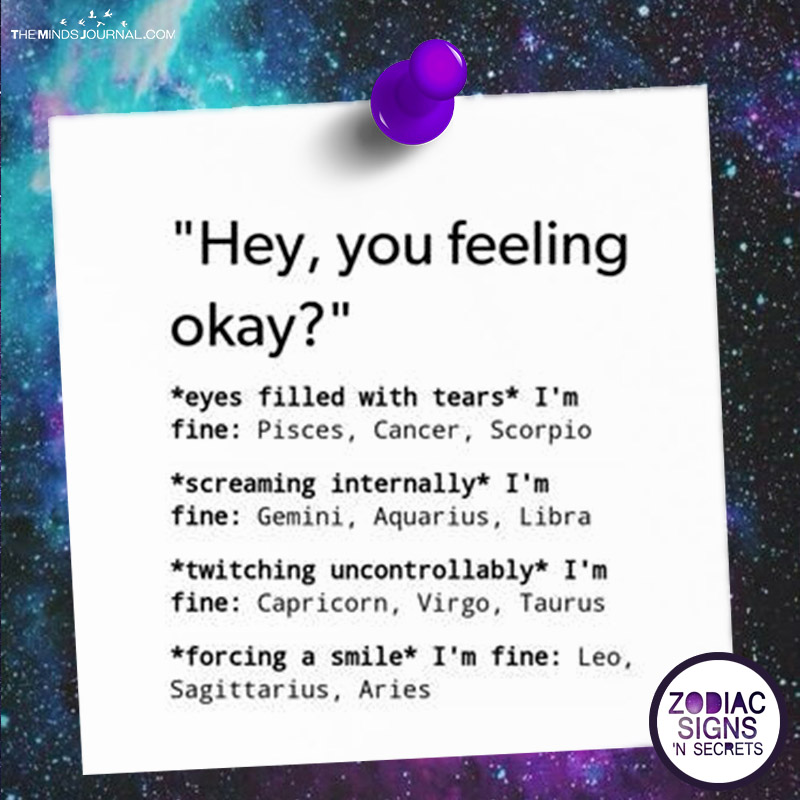 "Signs Reacts Like In ""Hey, You Feeling Okay?"""