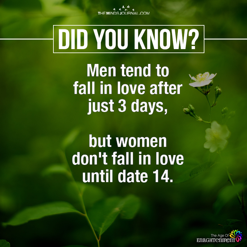 Men Tend To Fall In Love After Just 3 Days