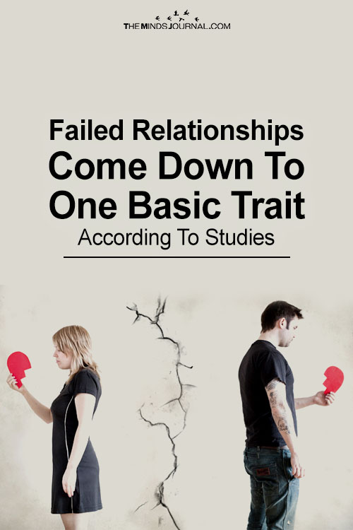 Failed Relationships Come Down To One Basic Trait: According To Studies