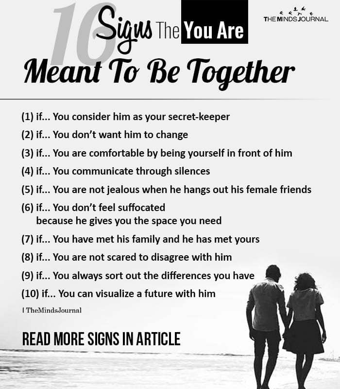 Signs The Two Of You Are Meant To Be Together