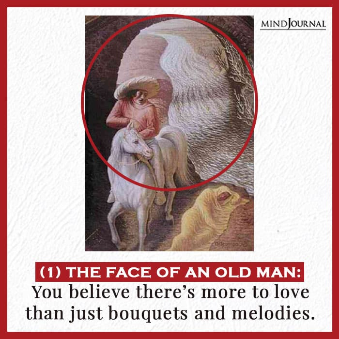 face of an old man