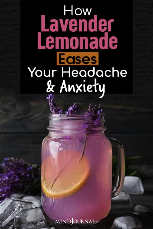 lavender lemonade eases your headache and anxiety pin