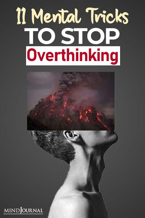 mental tricks to stop overthinking pin