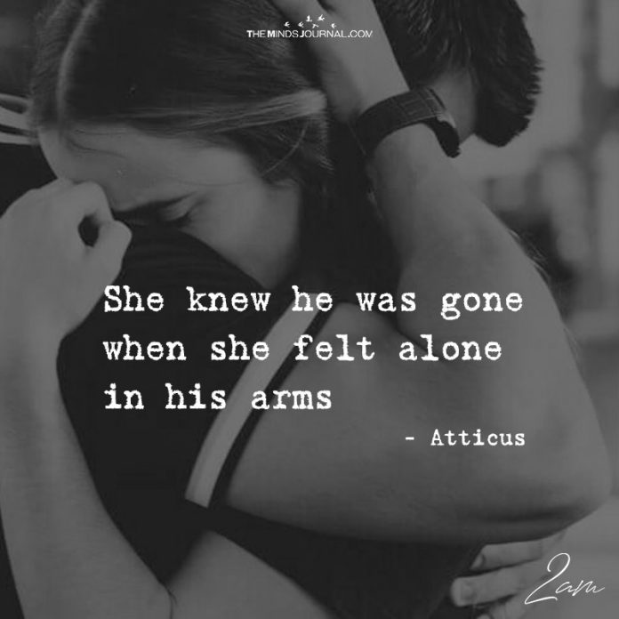 She Knew He Was Gone
