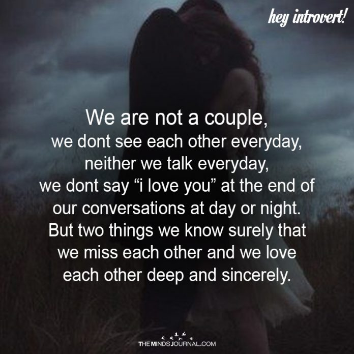 We Are Not A Couple