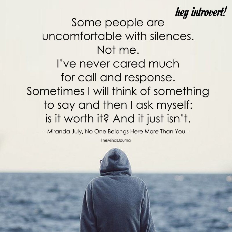 Some People Are Uncomfortable With Silences