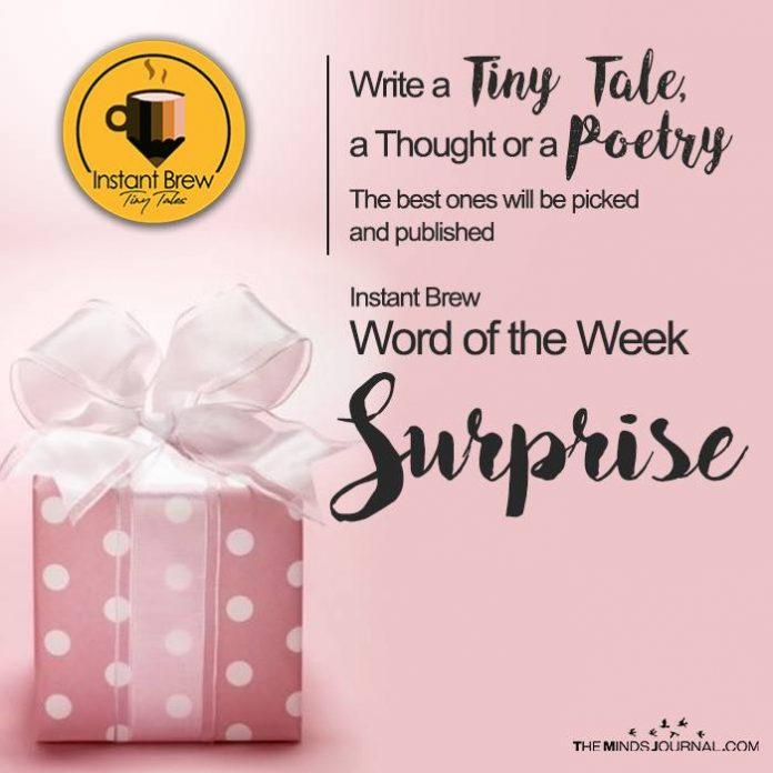 Instant Brew Word Of The Week, 'Surprise' ( 10 Feb 2017 - 16 Feb 2018)
