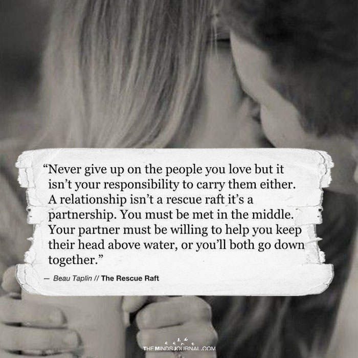 Never give up on a relationship