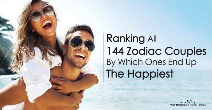 Ranking All 144 Zodiac Couples By Which Ones End Up The Happiest