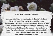 What Love Shouldn't Feel Like