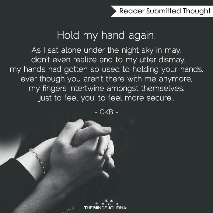 hold my hand again