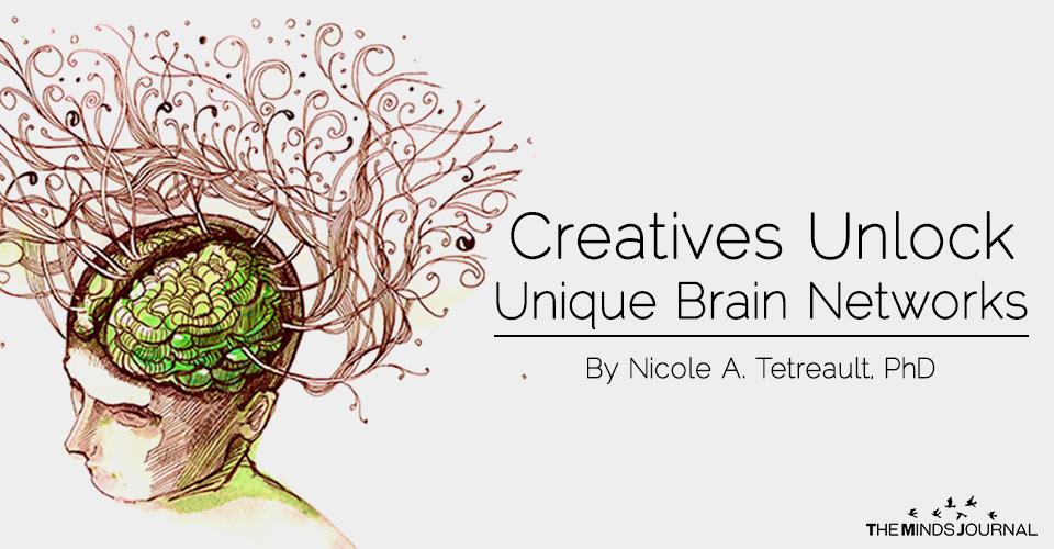 Creatives unlock unique brain netwoarks