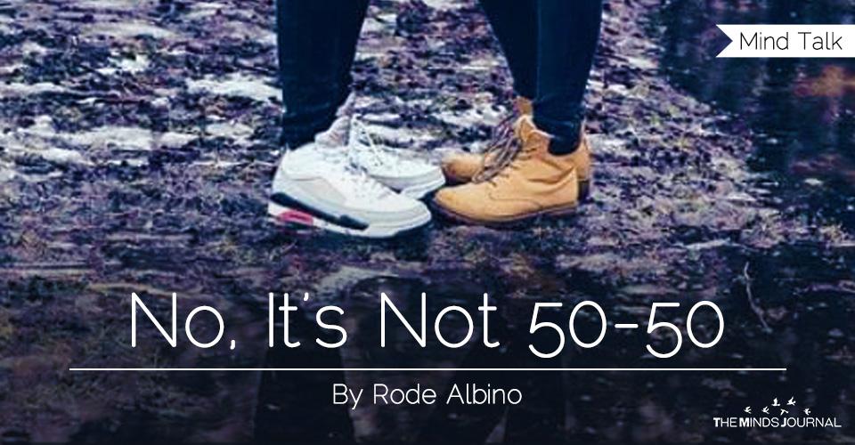 No,it's not 50-50