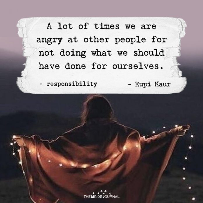 Anger means disrespecting yourself